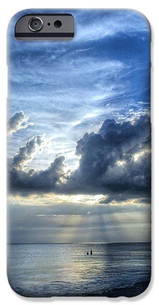 In Heaven's Light - Beach Ocean Art by Sharon Cummings iPhone Case by Sharon Cummings