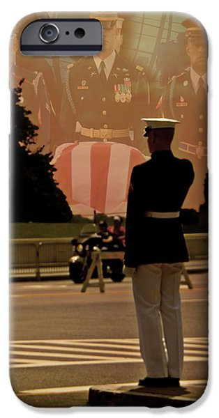 D.c. iPhone Cases - In Honor Of Our Fallen Heroes iPhone Case by Tom Gari Gallery-Three-Photography