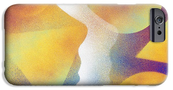 Prismatic Paintings iPhone Cases - In Love with Dreams iPhone Case by Hakon Soreide