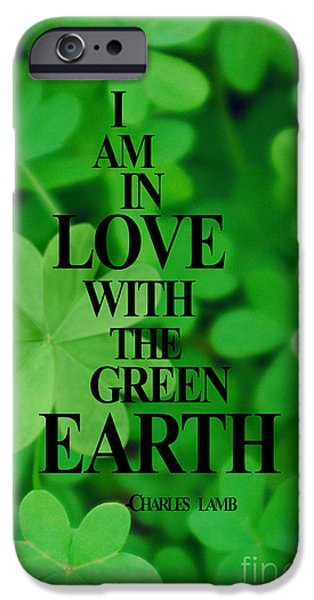 Multimedia iPhone Cases - In Love With Green Earth iPhone Case by Tina M Wenger