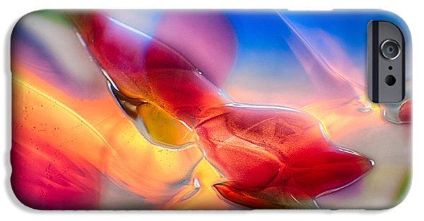Fine Abstract Glass iPhone Cases - In Loving Color iPhone Case by Omaste Witkowski