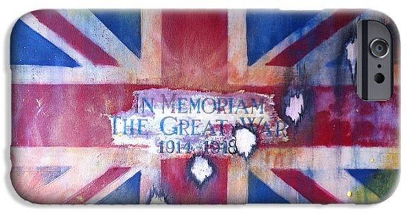 Ww1 Paintings iPhone Cases - In Memoriam W W 1 iPhone Case by Michelle Deyna-Hayward