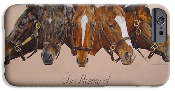 The Horse Pastels iPhone Cases - In Memory Of... iPhone Case by Dagmar Steiner