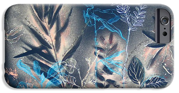 Mist Drawings iPhone Cases - In my Garden No Tulips Blow iPhone Case by Lynne Schulte