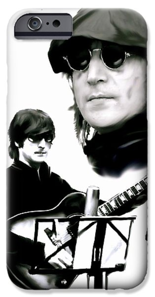 In My Life  John Lennon iPhone Case by Iconic Images Art Gallery David Pucciarelli