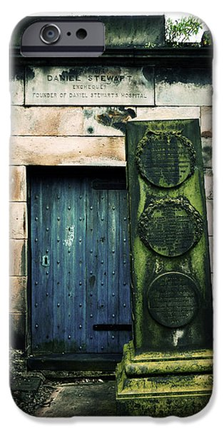 Headstones iPhone Cases - In Old Calton Cemetery iPhone Case by RicardMN Photography