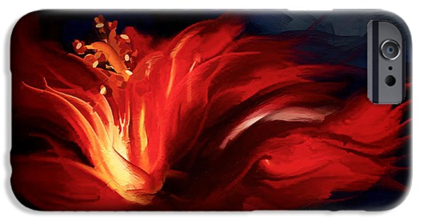 Conway iPhone Cases - In Red iPhone Case by Shanina Conway