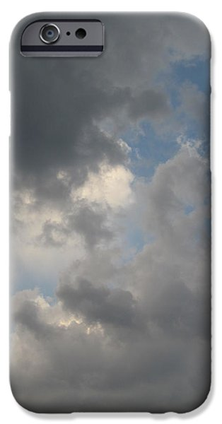 Guy Ricketts Photography iPhone Cases - In Sorrowful Clouds iPhone Case by Guy Ricketts
