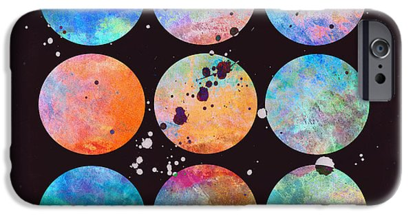 Abtracts iPhone Cases - In The Beginning abstract art iPhone Case by Ann Powell