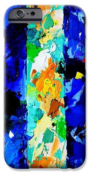 Abstract Expressionist iPhone Cases - In the Beginning God created the heaven and the earth - Genesis 1 1 - Abstract Painting iPhone Case by Philip Jones
