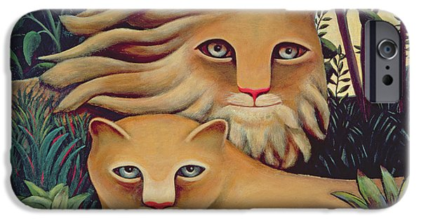 Lioness iPhone Cases - In The Beginning iPhone Case by Jerzy Marek