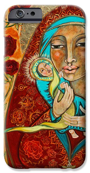 Baby Jesus iPhone Cases - In the Beginning Was the Word iPhone Case by Shiloh Sophia McCloud