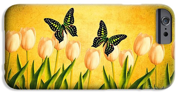 Hampshire iPhone Cases - In the Butterfly Garden iPhone Case by Edward Fielding