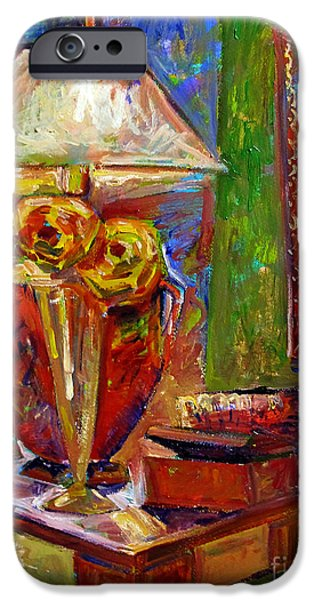 """indoor"" Still Life Paintings iPhone Cases - In the Corner of My Studio iPhone Case by Charlie Spear"