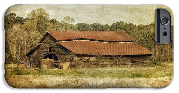 Old Barns iPhone Cases - In The Country iPhone Case by Kim Hojnacki