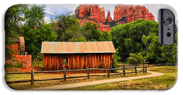 Sedona iPhone Cases - In the Distance iPhone Case by Barbara Manis