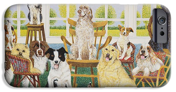 Springer Spaniel iPhone Cases - In The Dog House iPhone Case by Pat Scott