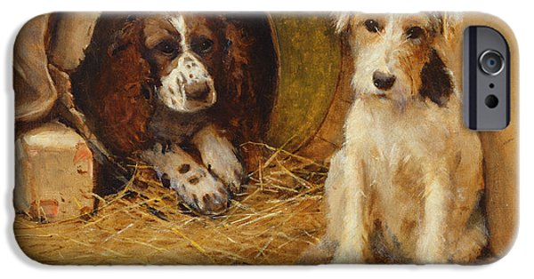 Puppies iPhone Cases - In the Dog House iPhone Case by Samuel Fulton