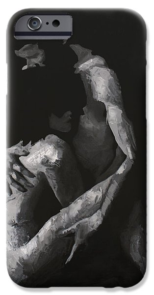 Women Together iPhone Cases - In the Flesh VIII iPhone Case by Alison Schmidt Carson