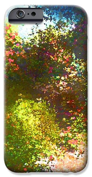 In the Garden iPhone Case by Pamela Cooper