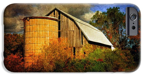 Old Barns iPhone Cases - In The Gloaming iPhone Case by Lois Bryan