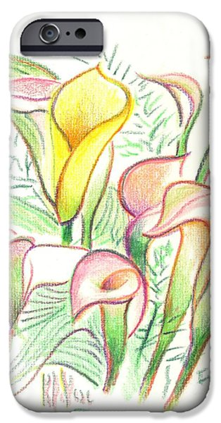 Joyful Drawings iPhone Cases - In the Golden Afternoon iPhone Case by Kip DeVore