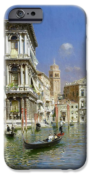 Rubens iPhone Cases - In the gondola. Venice iPhone Case by Rubens Santoro