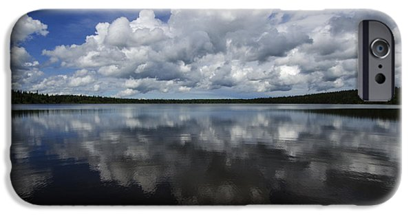 Reflections Of Sky In Water iPhone Cases - In The Good Old Summertime  iPhone Case by Bob Christopher