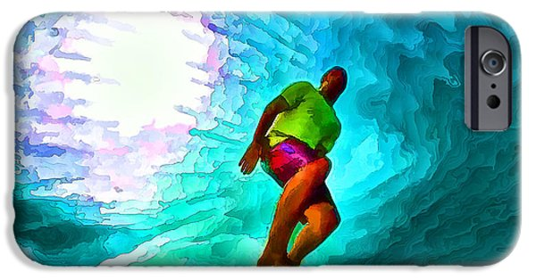 Action Lines Digital Art iPhone Cases - In the Green Room with Go Pro iPhone Case by Bill Caldwell -        ABeautifulSky Photography