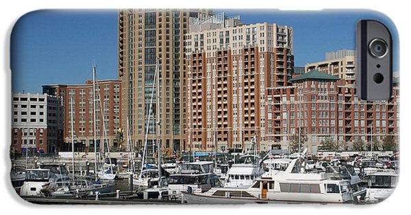 Boat iPhone Cases - In the Harbor iPhone Case by Karen Harrison