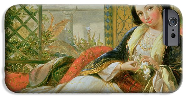 Concubines Paintings iPhone Cases - In the Harem iPhone Case by Anonymous