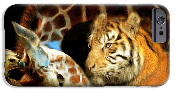 Recently Sold -  - The Tiger iPhone Cases - In The Jungle 20150215brun square iPhone Case by Wingsdomain Art and Photography