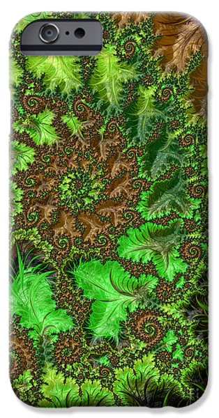Geometric Effect iPhone Cases - In The Jungle  iPhone Case by Heidi Smith