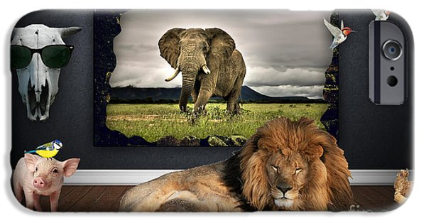 Tigers iPhone Cases - In The Jungle iPhone Case by Marvin Blaine