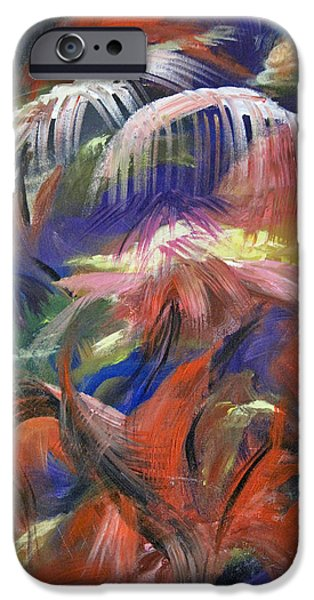 Etc. Paintings iPhone Cases - In the Jungle iPhone Case by Roberta Rotunda