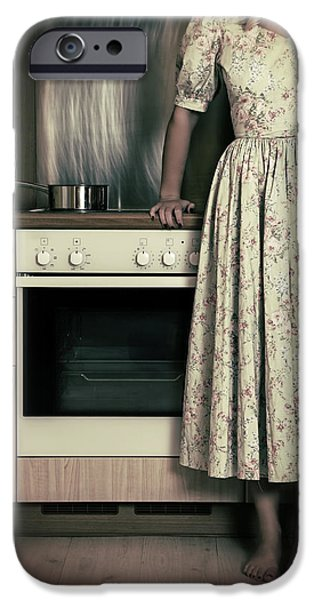 Stove iPhone Cases - In The Kitchen iPhone Case by Joana Kruse