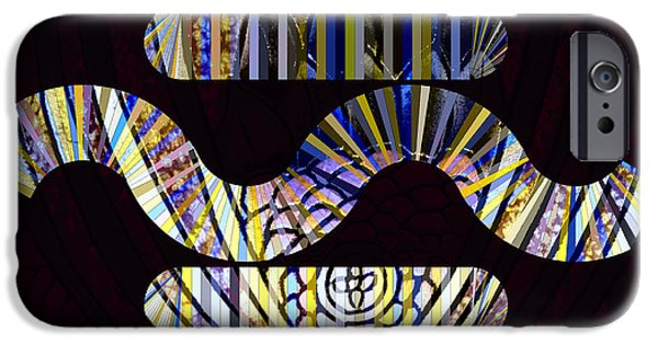 Abstract Digital iPhone Cases - In the Middle iPhone Case by Cheryl Young