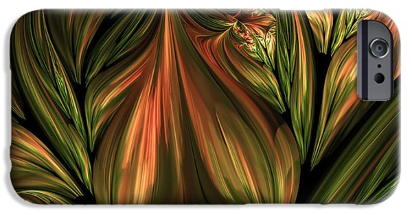 Asymmetrical iPhone Cases - In The Midst Of Nature Abstract iPhone Case by Georgiana Romanovna