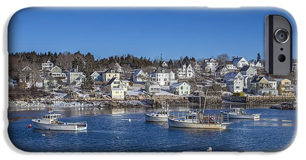 New England Village iPhone Cases - In The Morning Light iPhone Case by Evelina Kremsdorf