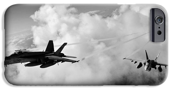 F-18 iPhone Cases - In The Nest iPhone Case by Benjamin Yeager