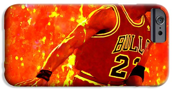Jordan Mixed Media iPhone Cases - In The Paint iPhone Case by Brian Reaves