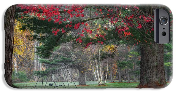 Surreal Landscape iPhone Cases - In the Park iPhone Case by Bill  Wakeley