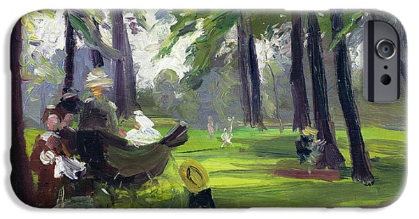 Garden iPhone Cases - In the Park  iPhone Case by Mary C Greene