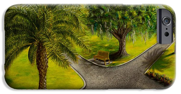 Interior Scene iPhone Cases - In the park iPhone Case by Zina Stromberg