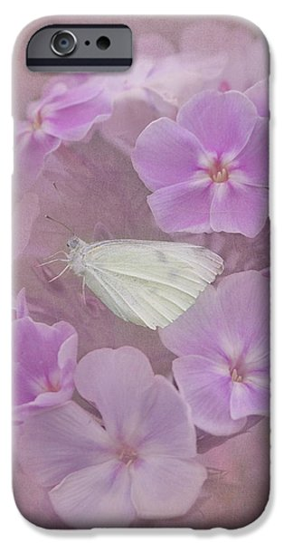 Cabbage White Butterfly iPhone Cases - In The Pink iPhone Case by Angie Vogel