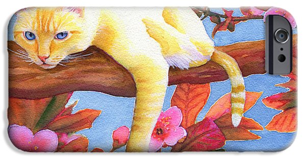 Flame Point Siamese iPhone Cases - In the Pink iPhone Case by Aura Lesnjak