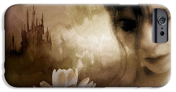 Dreamscape Digital Art iPhone Cases - In the realm of dreams iPhone Case by Gun Legler
