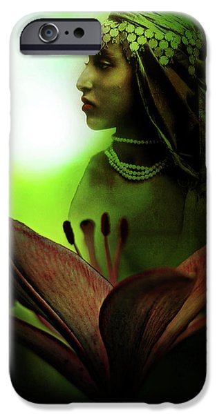 Asiatic Lily iPhone Cases - In the Secret of Your Glance iPhone Case by Rebecca Sherman