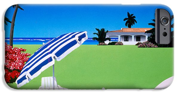 Beach Landscape iPhone Cases - In The Shade iPhone Case by David Holmes