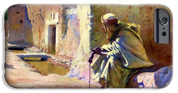 Painter Photographs iPhone Cases - In the Shade iPhone Case by Munir Alawi